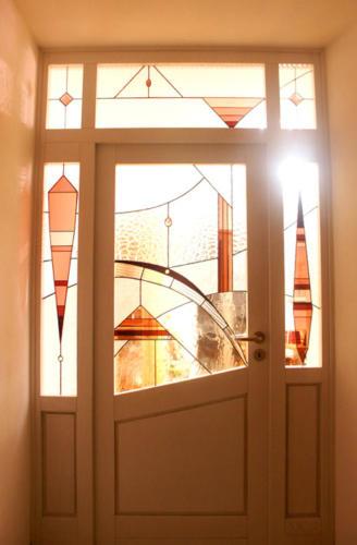 Glück einladende Türen